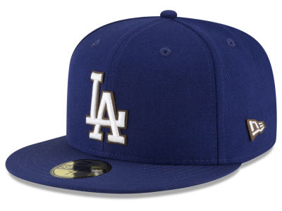 Los Angeles Dodgers MLB Classic Leather Outline 59FIFTY Cap Hats