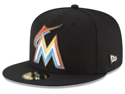 Miami Marlins MLB Classic Leather Outline 59FIFTY Cap Hats