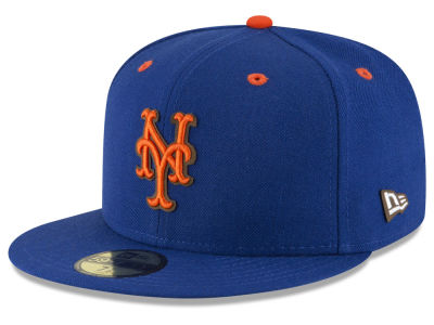 New York Mets MLB Classic Leather Outline 59FIFTY Cap Hats