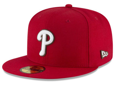 Philadelphia Phillies MLB Classic Leather Outline 59FIFTY Cap Hats