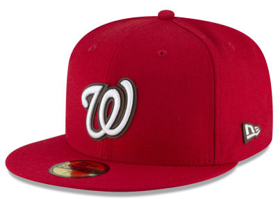 Washington Nationals MLB Classic Leather Outline 59FIFTY Cap Hats