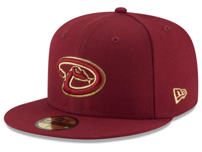 Arizona Diamondbacks MLB Team On Metallic 59FIFTY Cap Hats