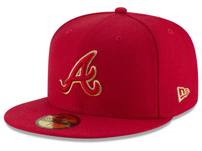 Atlanta Braves MLB Team On Metallic 59FIFTY Cap Hats
