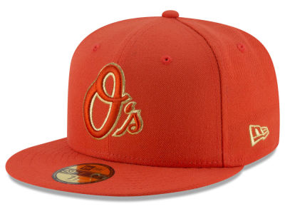 Baltimore Orioles MLB Team On Metallic 59FIFTY Cap Hats