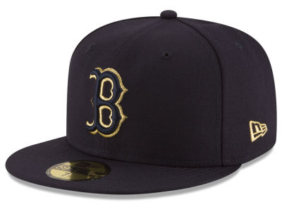 Boston Red Sox MLB Team On Metallic 59FIFTY Cap Hats
