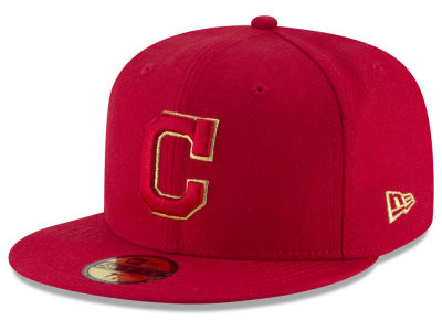 Cleveland Indians MLB Team On Metallic 59FIFTY Cap Hats