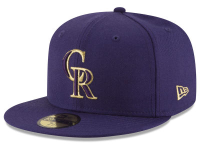 Colorado Rockies MLB Team On Metallic 59FIFTY Cap Hats