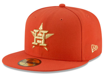 Houston Astros MLB Team On Metallic 59FIFTY Cap Hats