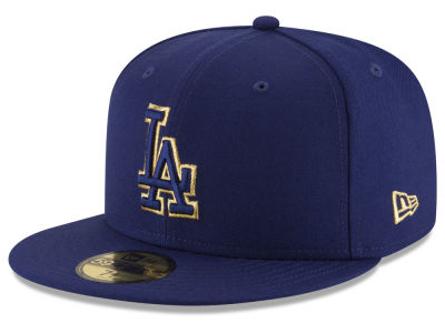 Los Angeles Dodgers MLB Team On Metallic 59FIFTY Cap Hats