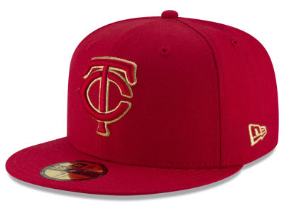Minnesota Twins MLB Team On Metallic 59FIFTY Cap Hats