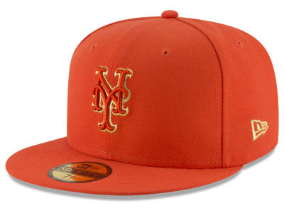 New York Mets MLB Team On Metallic 59FIFTY Cap Hats