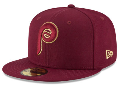 Philadelphia Phillies MLB Team On Metallic 59FIFTY Cap Hats