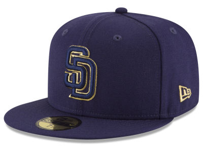 San Diego Padres MLB Team On Metallic 59FIFTY Cap Hats