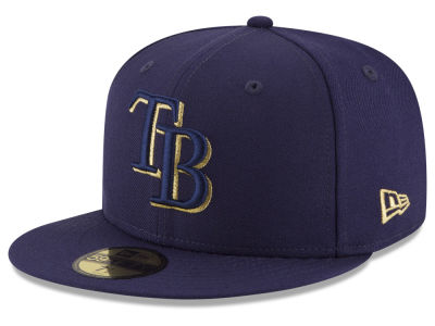 Tampa Bay Rays MLB Team On Metallic 59FIFTY Cap Hats