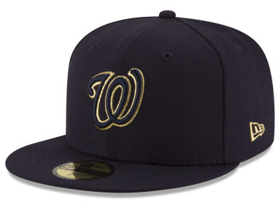 Washington Nationals MLB Team On Metallic 59FIFTY Cap Hats