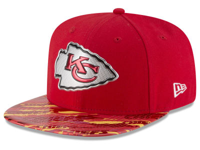 Kansas City Chiefs 2016 NFL On Field Color Rush 9FIFTY Snapback Cap Hats