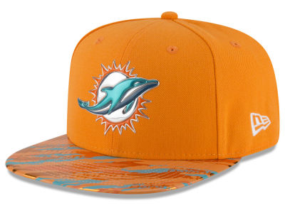 Miami Dolphins 2016 NFL On Field Color Rush 9FIFTY Snapback Cap Hats