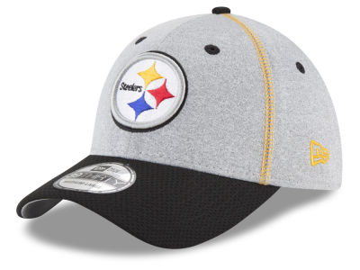 Pittsburgh Steelers NFL Gray Stitch 39THIRTY Cap Hats
