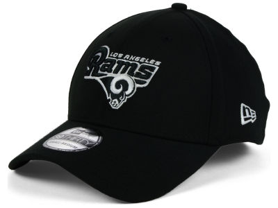 Los Angeles Rams NFL Black White Team Classic 39THIRTY Cap Hats