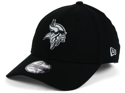 Minnesota Vikings NFL Black White Team Classic 39THIRTY Cap Hats