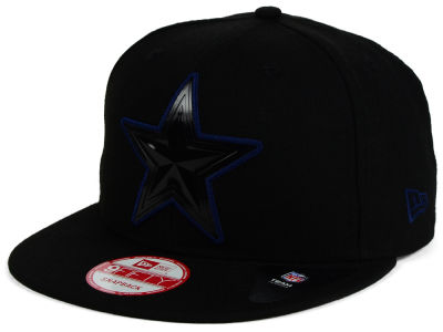 Dallas Cowboys NFL Black Bevel 9FIFTY Snapback Cap Hats