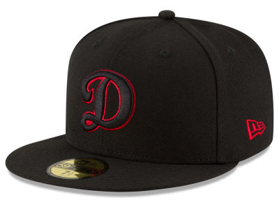 Los Angeles Dodgers MLB Black on Red 59FIFTY Cap Hats