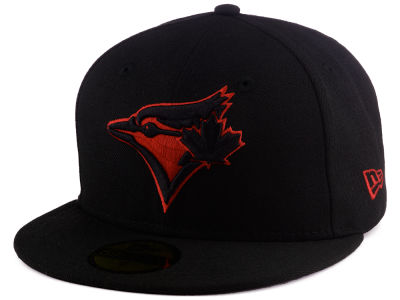 Toronto Blue Jays MLB Black on Red 59FIFTY Cap Hats