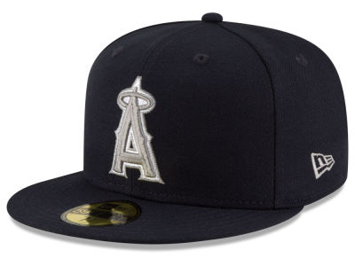Los Angeles Angels MLB Navy Gray White 59FIFTY Cap Hats