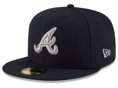 Atlanta Braves MLB Navy Gray White 59FIFTY Cap Hats