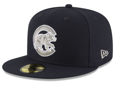 Chicago Cubs MLB Navy Gray White 59FIFTY Cap Hats