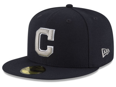 Cleveland Indians MLB Navy Gray White 59FIFTY Cap Hats