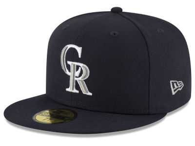 Colorado Rockies MLB Navy Gray White 59FIFTY Cap Hats