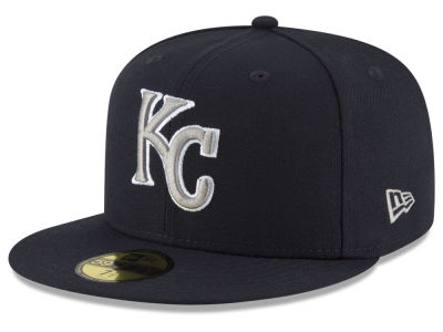 Kansas City Royals MLB Navy Gray White 59FIFTY Cap Hats