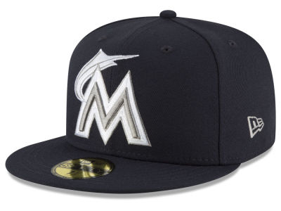 Miami Marlins MLB Navy Gray White 59FIFTY Cap Hats