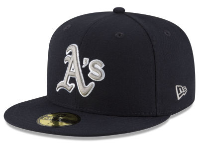 Oakland Athletics MLB Navy Gray White 59FIFTY Cap Hats