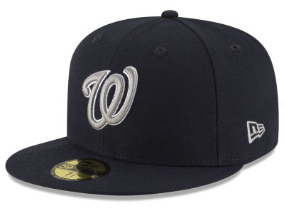 Washington Nationals MLB Navy Gray White 59FIFTY Cap Hats