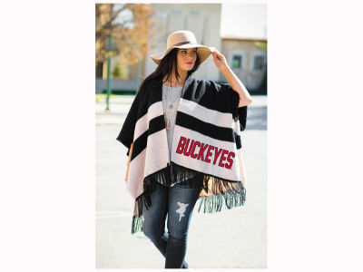 Gameday Couture NCAA Women's Fringe Poncho