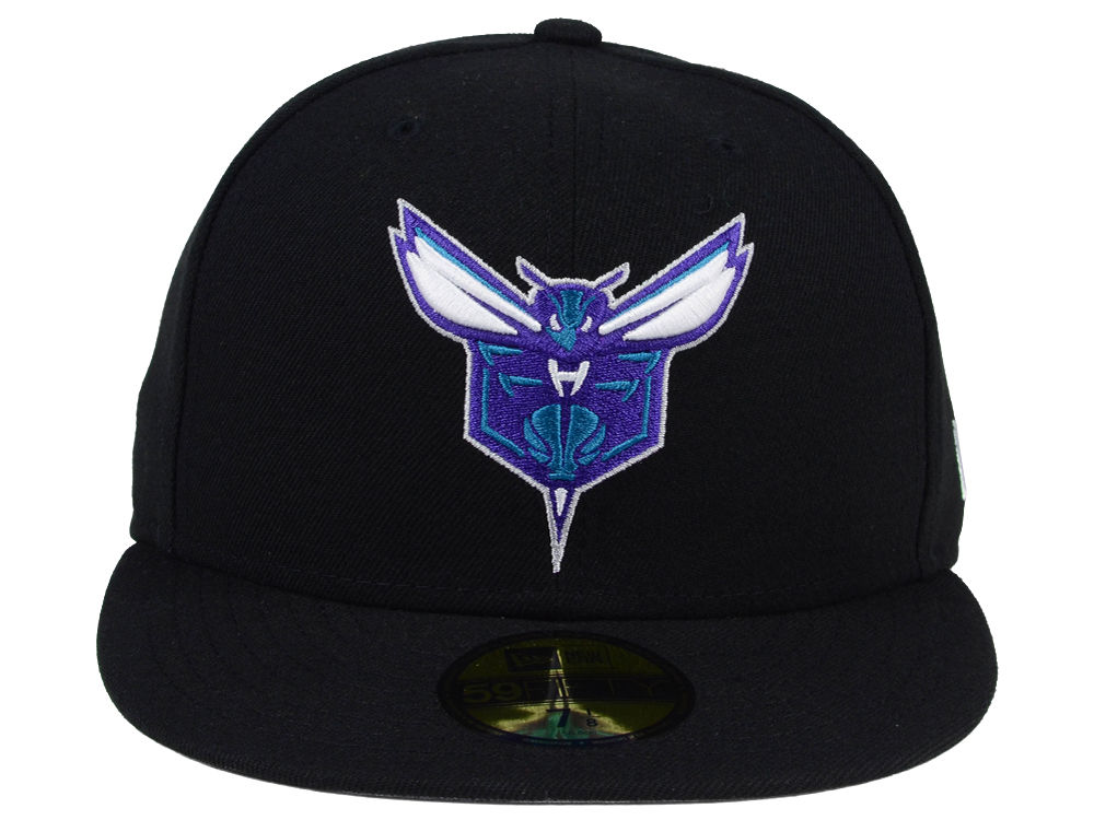 newest a08ab a18e4 durable service Charlotte Hornets New Era NBA Solid Team 59FIFTY Cap