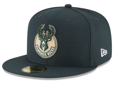 Milwaukee Bucks NBA Solid Team 59FIFTY Cap Hats