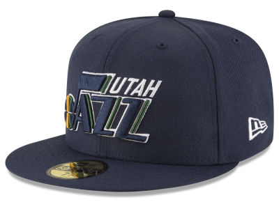 Utah Jazz NBA Solid Team 59FIFTY Cap Hats