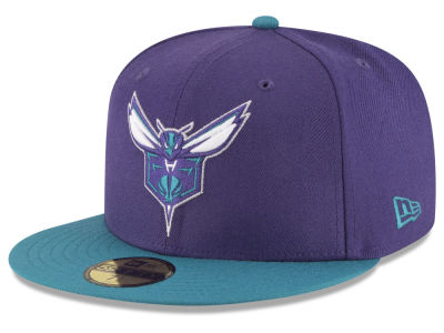 Charlotte Hornets NBA 2 Tone Team 59FIFTY Cap Hats