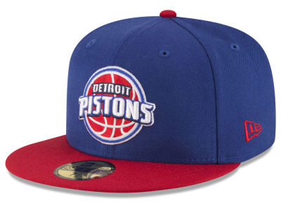 Detroit Pistons NBA 2 Tone Team 59FIFTY Cap Hats