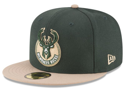 Milwaukee Bucks NBA 2 Tone Team 59FIFTY Cap Hats