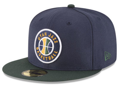 Utah Jazz NBA 2 Tone Team 59FIFTY Cap Hats