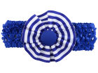 Kentucky Wildcats Crocheted Headband with Stripe Rosette Headbands & Wristbands