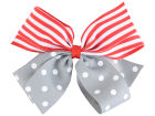 Ohio State Buckeyes Polka Dot/Stripe Combo Bow Headbands & Wristbands