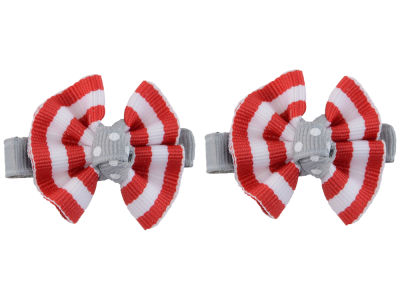 Clip Pair Ruffled Stripe