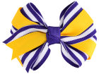 LSU Tigers Two Tone Fluff with Knot Headbands & Wristbands