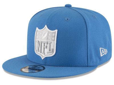 Detroit Lions NFL Team Shield 9FIFTY Snapback Cap Hats