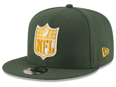 Green Bay Packers NFL Team Shield 9FIFTY Snapback Cap Hats